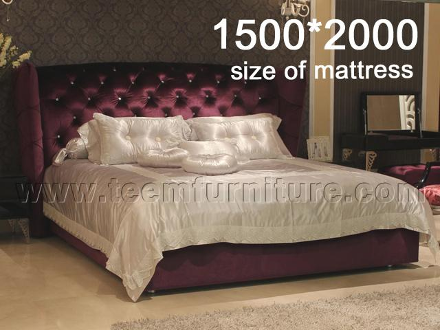 Bed(with diamond button)