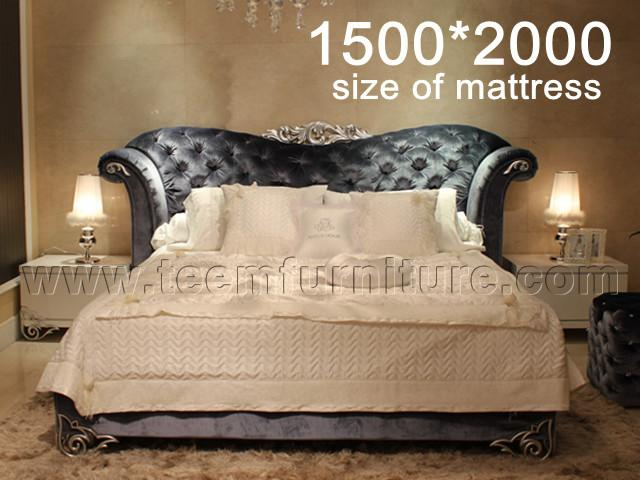 Bed(with ctystal buttons)