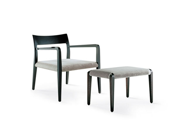 Sofa chair with stool